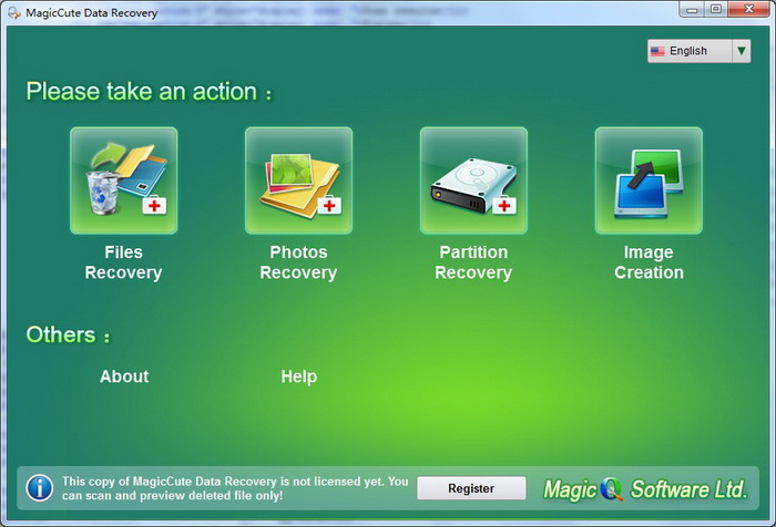 MagicCute Data Recovery Screen shot